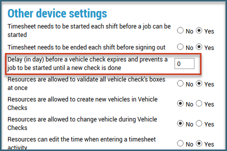 Assign a vehicle check